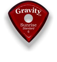 Load image into Gallery viewer, Sunrise Standard 6.0mm Red Single Round Grip Acrylic Guitar Pick Handmade Custom Best Acoustic Mandolin Electric Ukulele Bass Plectrum Bright Loud Faster Speed