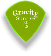 Load image into Gallery viewer, Sunrise XL 1.5mm Fluorescent Green Acrylic Guitar Pick Handmade Custom Best Acoustic Mandolin Electric Ukulele Bass Plectrum Bright Loud Faster Speed