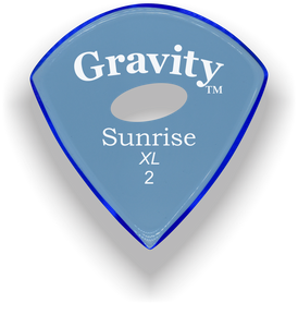 Sunrise XL 2.0mm Blue Elipse Grip Acrylic Guitar Pick Handmade Custom Best Acoustic Mandolin Electric Ukulele Bass Plectrum Bright Loud Faster Speed