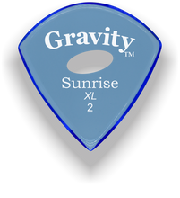 Load image into Gallery viewer, Sunrise XL 2.0mm Blue Elipse Grip Acrylic Guitar Pick Handmade Custom Best Acoustic Mandolin Electric Ukulele Bass Plectrum Bright Loud Faster Speed