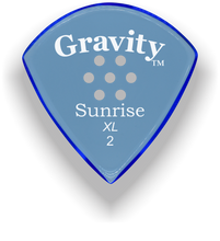 Load image into Gallery viewer, Sunrise XL 2.0mm Blue Multi-Hole Grip Acrylic Guitar Pick Handmade Custom Best Acoustic Mandolin Electric Ukulele Bass Plectrum Bright Loud Faster Speed