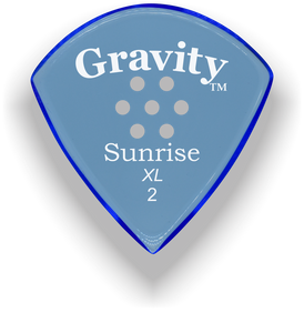 Sunrise XL 2.0mm Blue Multi-Hole Grip Acrylic Guitar Pick Handmade Custom Best Acoustic Mandolin Electric Ukulele Bass Plectrum Bright Loud Faster Speed
