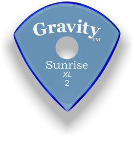 Sunrise XL 2.0mm Blue Single Round Grip Acrylic Guitar Pick Handmade Custom Best Acoustic Mandolin Electric Ukulele Bass Plectrum Bright Loud Faster Speed