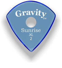Load image into Gallery viewer, Sunrise XL 2.0mm Blue Single Round Grip Acrylic Guitar Pick Handmade Custom Best Acoustic Mandolin Electric Ukulele Bass Plectrum Bright Loud Faster Speed