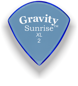 Sunrise XL 2.0mm Blue Acrylic Guitar Pick Handmade Custom Best Acoustic Mandolin Electric Ukulele Bass Plectrum Bright Loud Faster Speed