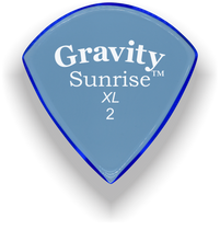 Load image into Gallery viewer, Sunrise XL 2.0mm Blue Acrylic Guitar Pick Handmade Custom Best Acoustic Mandolin Electric Ukulele Bass Plectrum Bright Loud Faster Speed