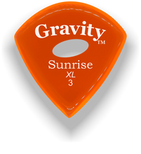 Load image into Gallery viewer, Sunrise XL 3.0mm Orange Elipse Grip Acrylic Guitar Pick Handmade Custom Best Acoustic Mandolin Electric Ukulele Bass Plectrum Bright Loud Faster Speed