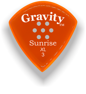 Sunrise XL 3.0mm Orange Multi-Hole Grip Acrylic Guitar Pick Handmade Custom Best Acoustic Mandolin Electric Ukulele Bass Plectrum Bright Loud Faster Speed