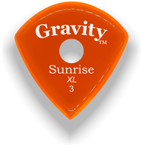 Load image into Gallery viewer, Sunrise XL 3.0mm Orange Single Round Grip Acrylic Guitar Pick Handmade Custom Best Acoustic Mandolin Electric Ukulele Bass Plectrum Bright Loud Faster Speed