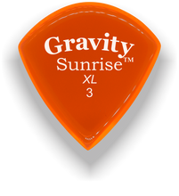 Load image into Gallery viewer, Sunrise XL 3.0mm Orange Acrylic Guitar Pick Handmade Custom Best Acoustic Mandolin Electric Ukulele Bass Plectrum Bright Loud Faster Speed