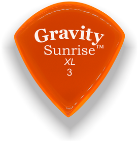 Sunrise XL 3.0mm Orange Acrylic Guitar Pick Handmade Custom Best Acoustic Mandolin Electric Ukulele Bass Plectrum Bright Loud Faster Speed