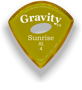 Sunrise XL 4.0mm Yellow Elipse Grip Acrylic Guitar Pick Handmade Custom Best Acoustic Mandolin Electric Ukulele Bass Plectrum Bright Loud Faster Speed