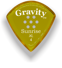 Load image into Gallery viewer, Sunrise XL 4.0mm Yellow Multi-Hole Grip Acrylic Guitar Pick Handmade Custom Best Acoustic Mandolin Electric Ukulele Bass Plectrum Bright Loud Faster Speed