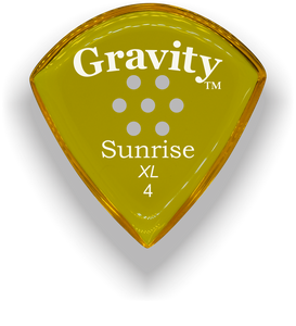 Sunrise XL 4.0mm Yellow Multi-Hole Grip Acrylic Guitar Pick Handmade Custom Best Acoustic Mandolin Electric Ukulele Bass Plectrum Bright Loud Faster Speed