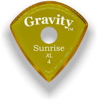 Load image into Gallery viewer, Sunrise XL 4.0mm Yellow Single Round Grip Acrylic Guitar Pick Handmade Custom Best Acoustic Mandolin Electric Ukulele Bass Plectrum Bright Loud Faster Speed