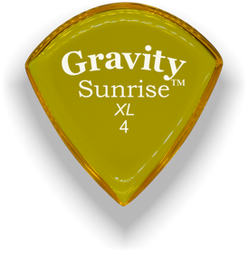Sunrise XL 4.0mm Yellow Acrylic Guitar Pick Handmade Custom Best Acoustic Mandolin Electric Ukulele Bass Plectrum Bright Loud Faster Speed