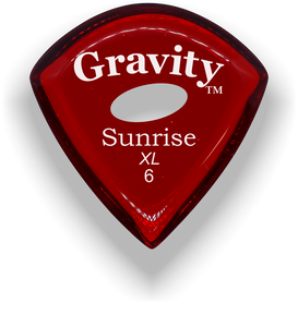 Sunrise XL 6.0mm Red Elipse Grip Acrylic Guitar Pick Handmade Custom Best Acoustic Mandolin Electric Ukulele Bass Plectrum Bright Loud Faster Speed