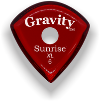 Load image into Gallery viewer, Sunrise XL 6.0mm Red Single Round Grip Acrylic Guitar Pick Handmade Custom Best Acoustic Mandolin Electric Ukulele Bass Plectrum Bright Loud Faster Speed