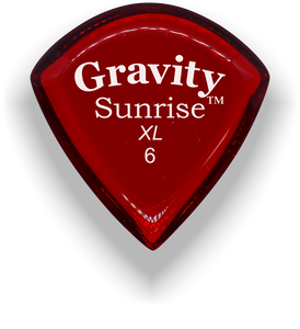 Sunrise XL 6.0mm Red Acrylic Guitar Pick Handmade Custom Best Acoustic Mandolin Electric Ukulele Bass Plectrum Bright Loud Faster Speed