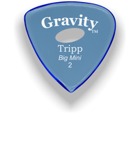 Load image into Gallery viewer, Tripp Big Mini 2.0mm Blue Elipse Grip Acrylic Guitar Pick Handmade Custom Best Acoustic Mandolin Electric Ukulele Bass Plectrum Bright Loud Faster Speed