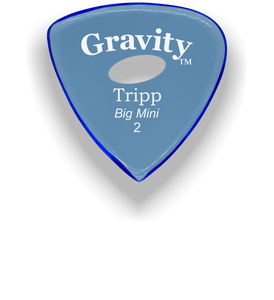 Tripp Big Mini 2.0mm Blue Elipse Grip Acrylic Guitar Pick Handmade Custom Best Acoustic Mandolin Electric Ukulele Bass Plectrum Bright Loud Faster Speed