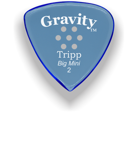 Tripp Big Mini 2.0mm Blue Multi-Hole Grip Acrylic Guitar Pick Handmade Custom Best Acoustic Mandolin Electric Ukulele Bass Plectrum Bright Loud Faster Speed