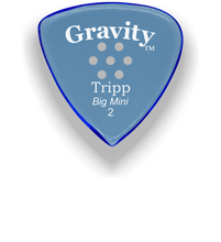 Load image into Gallery viewer, Tripp Big Mini 2.0mm Blue Multi-Hole Grip Acrylic Guitar Pick Handmade Custom Best Acoustic Mandolin Electric Ukulele Bass Plectrum Bright Loud Faster Speed