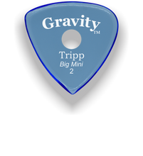 Load image into Gallery viewer, Tripp Big Mini 2.0mm Blue Single Round Grip Acrylic Guitar Pick Handmade Custom Best Acoustic Mandolin Electric Ukulele Bass Plectrum Bright Loud Faster Speed