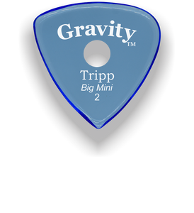 Tripp Big Mini 2.0mm Blue Single Round Grip Acrylic Guitar Pick Handmade Custom Best Acoustic Mandolin Electric Ukulele Bass Plectrum Bright Loud Faster Speed