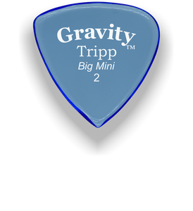 Tripp Big Mini 2.0mm Blue Acrylic Guitar Pick Handmade Custom Best Acoustic Mandolin Electric Ukulele Bass Plectrum Bright Loud Faster Speed