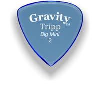 Load image into Gallery viewer, Tripp Big Mini 2.0mm Blue Acrylic Guitar Pick Handmade Custom Best Acoustic Mandolin Electric Ukulele Bass Plectrum Bright Loud Faster Speed