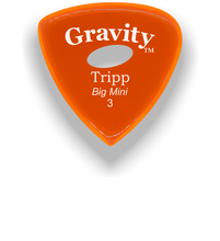 Load image into Gallery viewer, Tripp Big Mini 3.0mm Orange Elipse Grip Acrylic Guitar Pick Handmade Custom Best Acoustic Mandolin Electric Ukulele Bass Plectrum Bright Loud Faster Speed