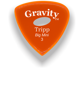 Tripp Big Mini 3.0mm Orange Elipse Grip Acrylic Guitar Pick Handmade Custom Best Acoustic Mandolin Electric Ukulele Bass Plectrum Bright Loud Faster Speed