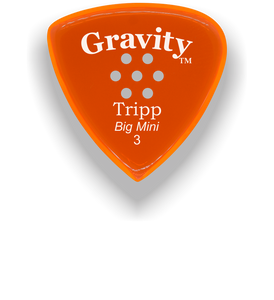 Tripp Big Mini 3.0mm Orange Multi-Hole Grip Acrylic Guitar Pick Handmade Custom Best Acoustic Mandolin Electric Ukulele Bass Plectrum Bright Loud Faster Speed