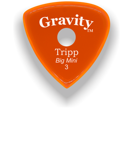 Tripp Big Mini 3.0mm Orange Single Round Grip Acrylic Guitar Pick Handmade Custom Best Acoustic Mandolin Electric Ukulele Bass Plectrum Bright Loud Faster Speed