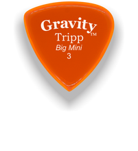 Load image into Gallery viewer, Tripp Big Mini 3.0mm Orange Acrylic Guitar Pick Handmade Custom Best Acoustic Mandolin Electric Ukulele Bass Plectrum Bright Loud Faster Speed