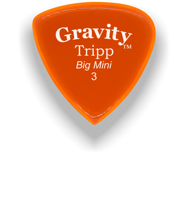 Tripp Big Mini 3.0mm Orange Acrylic Guitar Pick Handmade Custom Best Acoustic Mandolin Electric Ukulele Bass Plectrum Bright Loud Faster Speed