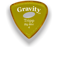 Load image into Gallery viewer, Tripp Big Mini 4.0mm Yellow Elipse Grip Acrylic Guitar Pick Handmade Custom Best Acoustic Mandolin Electric Ukulele Bass Plectrum Bright Loud Faster Speed