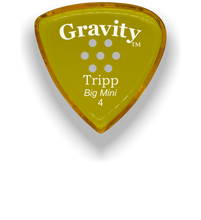 Load image into Gallery viewer, Tripp Big Mini 4.0mm Yellow Multi-Hole Grip Acrylic Guitar Pick Handmade Custom Best Acoustic Mandolin Electric Ukulele Bass Plectrum Bright Loud Faster Speed