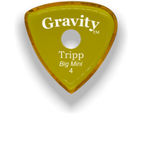 Load image into Gallery viewer, Tripp Big Mini 4.0mm Yellow Single Round Grip Acrylic Guitar Pick Handmade Custom Best Acoustic Mandolin Electric Ukulele Bass Plectrum Bright Loud Faster Speed