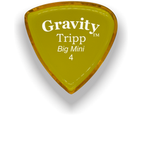 Load image into Gallery viewer, Tripp Big Mini 4.0mm Yellow Acrylic Guitar Pick Handmade Custom Best Acoustic Mandolin Electric Ukulele Bass Plectrum Bright Loud Faster Speed