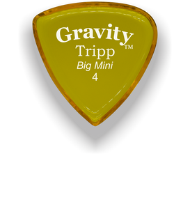 Tripp Big Mini 4.0mm Yellow Acrylic Guitar Pick Handmade Custom Best Acoustic Mandolin Electric Ukulele Bass Plectrum Bright Loud Faster Speed
