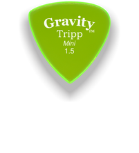 Load image into Gallery viewer, Tripp Mini Jazz 1.5mm Fluorescent Green Acrylic Guitar Pick Handmade Custom Best Acoustic Mandolin Electric Ukulele Bass Plectrum Bright Loud Faster Speed