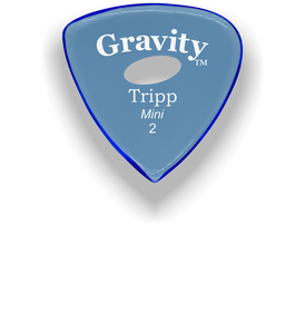Tripp Mini Jazz 2.0mm Blue Elipse Grip Acrylic Guitar Pick Handmade Custom Best Acoustic Mandolin Electric Ukulele Bass Plectrum Bright Loud Faster Speed