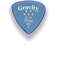 Load image into Gallery viewer, Tripp Mini Jazz 2.0mm Blue Multi-Hole Grip Acrylic Guitar Pick Handmade Custom Best Acoustic Mandolin Electric Ukulele Bass Plectrum Bright Loud Faster Speed