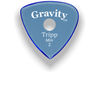 Load image into Gallery viewer, Tripp Mini Jazz 2.0mm Blue Single Round Grip Acrylic Guitar Pick Handmade Custom Best Acoustic Mandolin Electric Ukulele Bass Plectrum Bright Loud Faster Speed