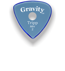 Tripp Mini Jazz 2.0mm Blue Single Round Grip Acrylic Guitar Pick Handmade Custom Best Acoustic Mandolin Electric Ukulele Bass Plectrum Bright Loud Faster Speed