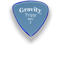 Load image into Gallery viewer, Tripp Mini Jazz 2.0mm Blue Acrylic Guitar Pick Handmade Custom Best Acoustic Mandolin Electric Ukulele Bass Plectrum Bright Loud Faster Speed
