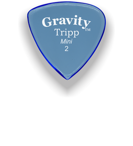 Tripp Mini Jazz 2.0mm Blue Acrylic Guitar Pick Handmade Custom Best Acoustic Mandolin Electric Ukulele Bass Plectrum Bright Loud Faster Speed