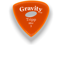 Load image into Gallery viewer, Tripp Mini Jazz 3.0mm Orange Elipse Grip Acrylic Guitar Pick Handmade Custom Best Acoustic Mandolin Electric Ukulele Bass Plectrum Bright Loud Faster Speed